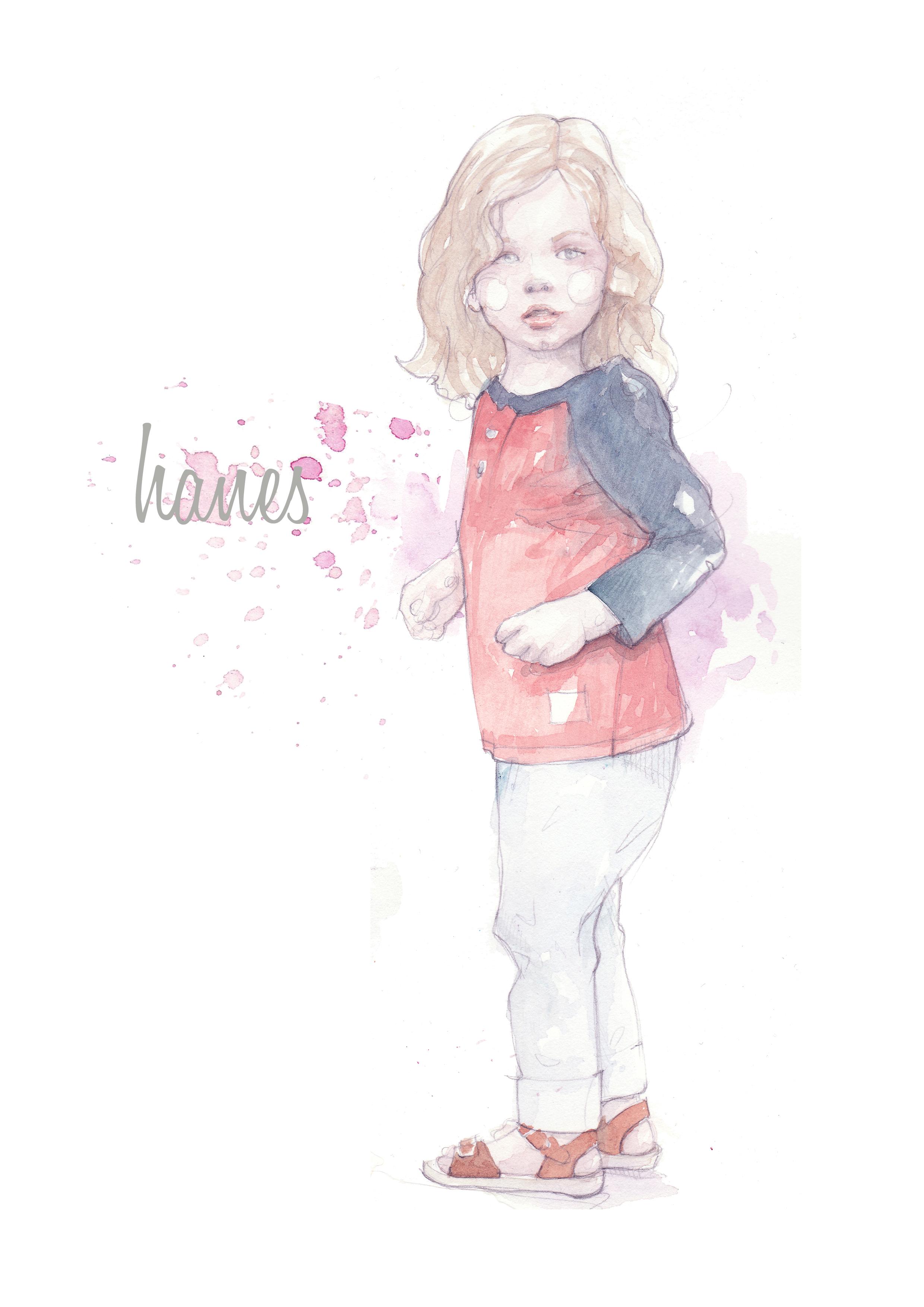 Fashion Girl Cartoon Character