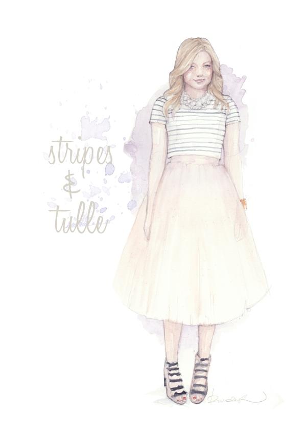 Tulle & stripes